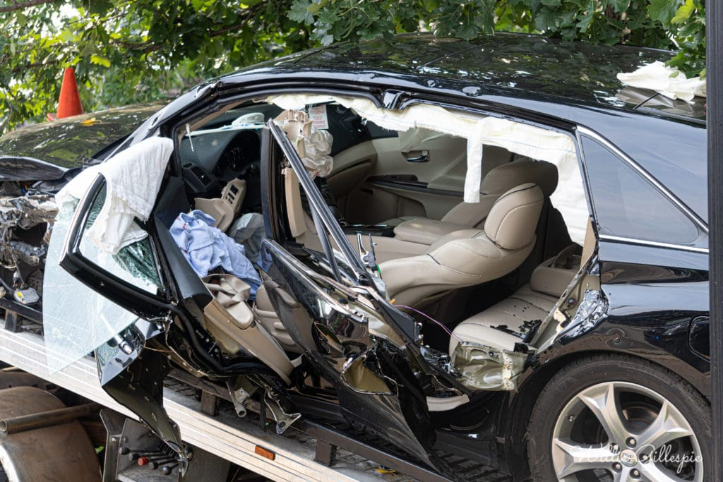 Firefighters extricate trapped driver after she crashed into tree at park in Libertyville